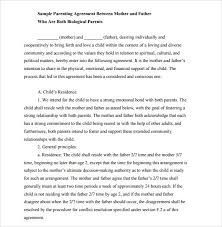 child support mutual agreement template child support agreement letter