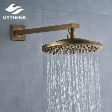 antique shower heads free antique brass 8 inch rainfall bathroom shower head swivel sprayer with