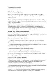 Resume Template Basic Objectives For Resumes General With 21