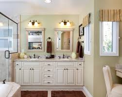double vanity mirror bathroom traditional with bathroom light brown glass