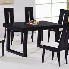Dining Room: Black Ultra Modern Wooden Dining Chairs With White ...
