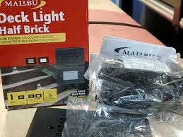 Malibu Led Deck Light Half Brick Malibu Half Brick Deck Or Step Light 8301 2402 01 Black 7 Watt