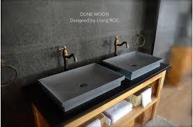 Concrete Bathroom Sink 23 Concrete Gray Andesite Basalt Dune Moon Bathroom  Sink Vessel