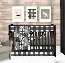 woodland nursery bedding set deer crib