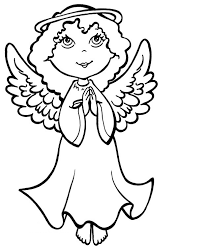 Angel Coloring Pages Praying Coloringstar