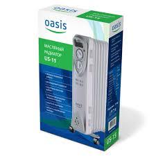 <b>Масляный радиатор Oasis US-15</b>, 1,5 кВт, 7 секций