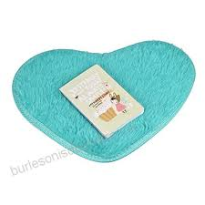 sothread 40x28cm nonslip heartshaped bath carpet mats kitchen area rug home decor blue b07572mmq4