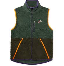 Sportswear Contrast Tipped Fleece And Shell Gilet