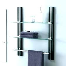 floating shower shelf glass corner medium size of with rail