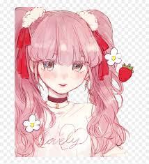 Anime chrome themes from themebeta. Freetoedit Animegirl Cherry Anime Girl Cropped Aesthetic Anime Girl Pink Hair Hd Png Download Vhv