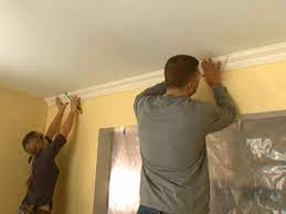 how to hang crown molding diy