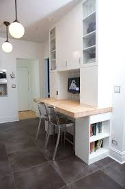 built in kitchen desk home office contemporary with glossy kitchen cabinet white kitchen cabinet built desk small home office
