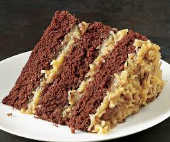 slice of german chocolate cake.  Cake German Chocolate Cake Inside Slice Of Fine Cooking