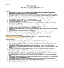 SEO Executive Resume Free PDF Template