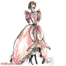 drawings fashion designs fashion designers sketch bella s wedding dress instyle com