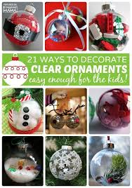 Decorating Clear Christmas Balls Custom 32 Homemade Christmas Ornaments Using Clear Fillable Ball Ornaments
