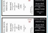 Concert Ticket Template Free Awesome Blank Concert Ticket Template