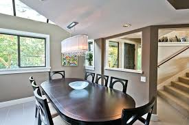 linear crystal chandelier dining room other