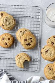 These chocolate chip cookies taste like childhood, except with no eggs or dairy. Dairy Free Chocolate Chip Cookies Simply Whisked