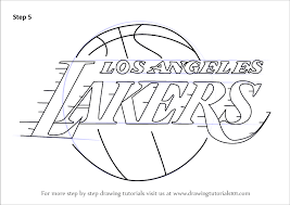 Including transparent png clip art, cartoon, icon, logo, silhouette, watercolors, outlines, etc. Learn How To Draw Los Angeles Lakers Logo Nba Step By Step Drawing Tutorials