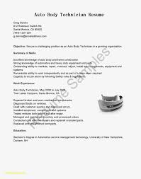 Pharmacy Tech Resume Objective Free Download Auto Body Technician