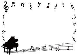 ト音記号とピアノのフレーム枠
