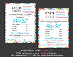 Color Street Price List Color Street Price Chart Color In