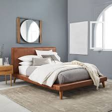 Mod Leather Platform Bed | west elm