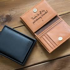 personalised men s leather wallet with coin pocket
