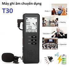 Shop bán Máy ghi âm chuyên dụng T30 tự động ghi âm khi có âm ghi âm 360 độ  - Micro lọc tiếng ồn - tặng kèm thẻ nhớ 16Gb