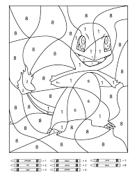 Free Pokemon Color By Number Printable Worksheets Coloring Pages