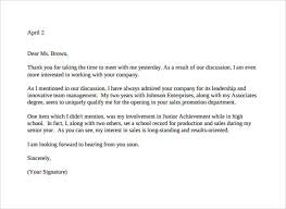 Thank You Letter After Interview Template Creative How Write About