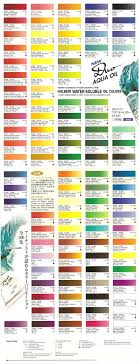 Aqua Color Chart Manufacturers Color Charts For Water Soluble Oils