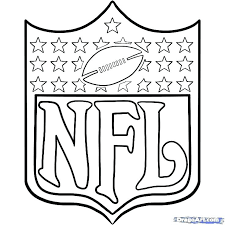 nfl logos football coloring page free pages book also colouring pictures to print
