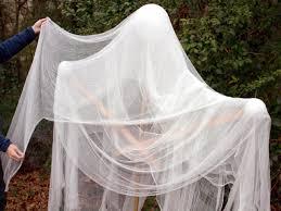 Body Of DIY Halloween Ghost Draped With Gauze