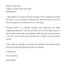Business Proposal Letter Sample Best Cover Letter For A Business Plan Benwalkerco