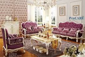 luxury italian oak solid wood purple fabric sectional sofas set living room furniture with coffee tableshoes cabinet china 8803 china living room furniture