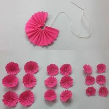 How To Make Flower Using Crepe Paper Diy Wall Hanging Home Decoration Using Paper Flowers 7 Steps With