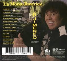 MUSICANOBA   Cd La Mona Jimenez Hoy El Jimeneo En Stock Musicanoba - $  550,00