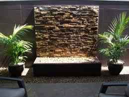 diy water feature stone wall