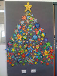 Star Christmas Tree Bulletin Board Idea