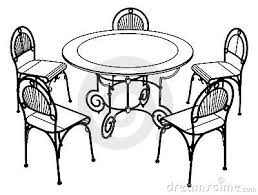 kitchen table clipart black and white. tables chairs clipart 5255showing kitchen table black and white n
