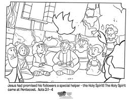 Small Picture Pentecost Coloring Page Whats in the Bible