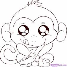 Small Picture Cute Cartoon Monkey Coloring Pages Embroidery Pinterest