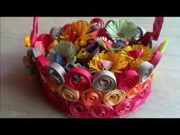 Paper Quilling Flower Baskets Quilling Basket Paper Basket Quilling Flower Basket
