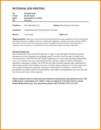 Best Solutions Of Internal Job Posting Resume Cover Letter On