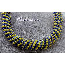 Spiral Beads Design Beadination Banana Beaded Necklace Design