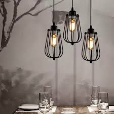 industrial cage lighting. Ecopower Vintage Style Industrial Hanging Light Black Mini Pendant Wire Cage Lamp (without Light) Lighting R
