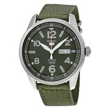 seiko 5 sports automatic green dial green canvas men s watch seiko 5 sports automatic green dial green canvas men s watch srp621