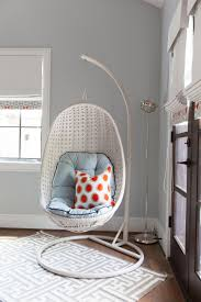 Blue Hammock Chair in Boys' Bedroom